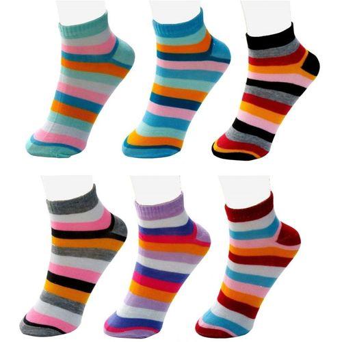 Neska Moda Women's Striped Ankle Length(Pack of 6)