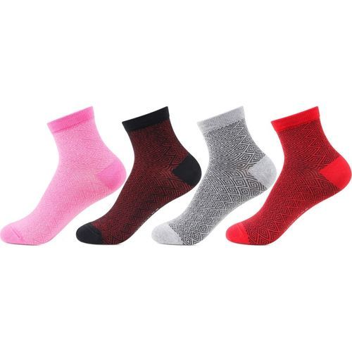 Bonjour Multicolour Women's Ankle Length Pack Of 4