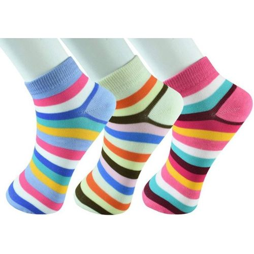 Chartbusters Women Striped Ankle Length(Pack of 3)