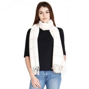 FabSeasons Checkered Acrylic Wool Women Scarf