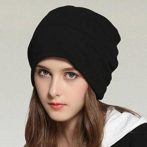 BEZAL Fashionable And Trendy Look Black Beanie Stretchable Cap