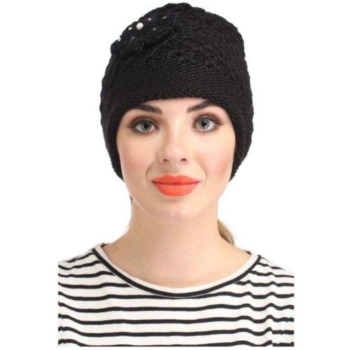 Tahiro Black Woollen Cap Cap
