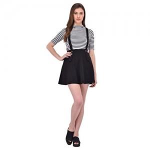 RIGO Black Suspender Skater Skirt