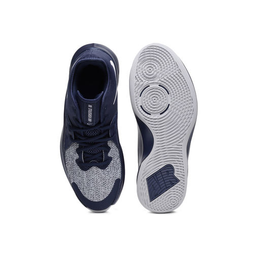 c62278605062 ... Nike Unisex Blue   Grey Textile Mid-Top Air Versitile III Basketball  Shoes ...