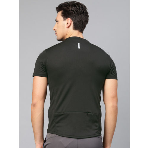 HRX by Hrithik Roshan Men Black Solid Rapid Dry Cycling T-shirt