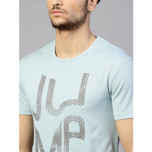 HRX by Hrithik Roshan Men Blue Printed Round Neck T-shirt