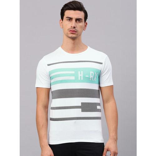 HRX by Hrithik Roshan Men White Printed Round Neck T-shirt