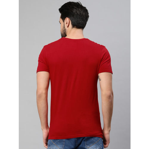 HRX by Hrithik Roshan Men Red Printed Round Neck Athleisure T-shirt
