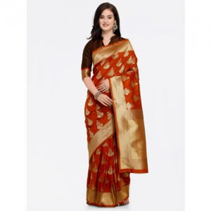 f664f4fcc96f7 Buy Samyakk Light cream   gold pure silk graceful saree with maroon ...