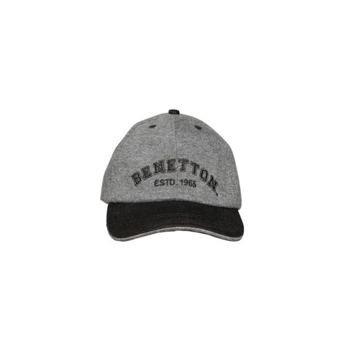 ... Baseball Cap  United Colors of Benetton Unisex Grey   Black Baseball ... 4bc44b6eedc