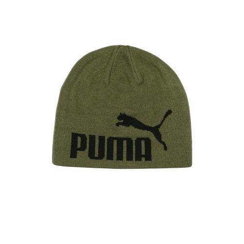 667334db627 Buy Puma Unisex Olive Green ESS Big Cat Beanie online