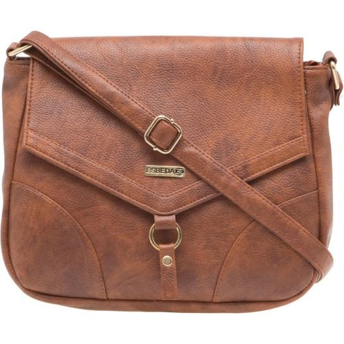 Esbeda Women Casual Tan PU Sling Bag