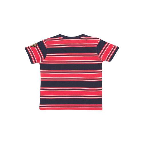 Cherokee Kids Red & Navy Striped T-Shirt