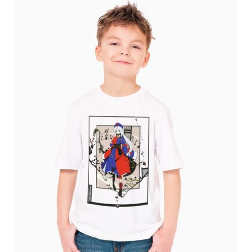 NUTSPIN Boys Graphic Print Cotton T Shirt(White, Pack of 1)