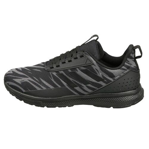 Adidas Men Black & Charcoal Grey KYRIS 3.0 Printed Running Shoes