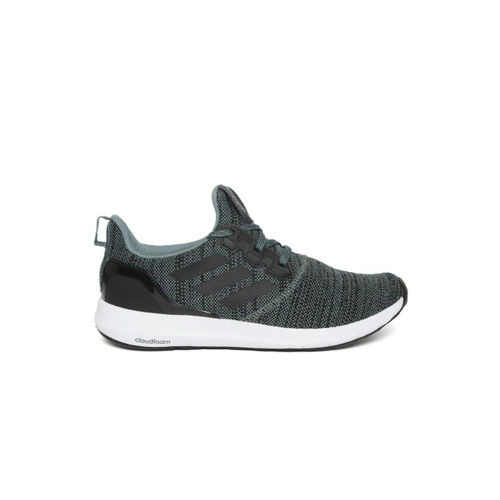 Adidas Men Green & Black ZETA 1.0 Woven Design Running Shoes