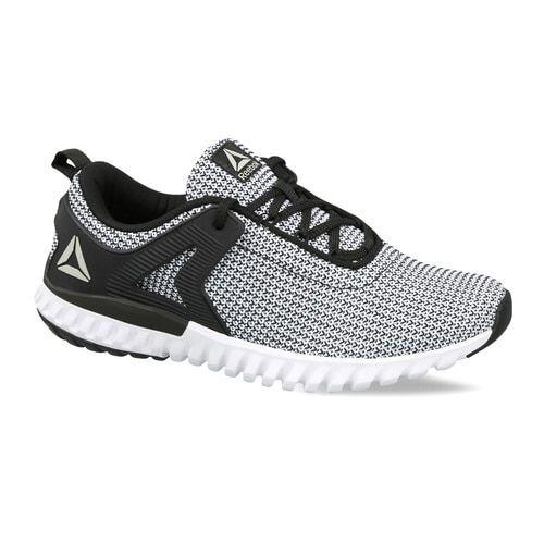 23cdd9f76d19f9 Buy Reebok Black   White Woven Design Glide Runner Lp Running Shoes ...