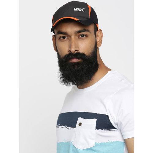 HRX by Hrithik Roshan Men Black & Orange Colourblocked Cap
