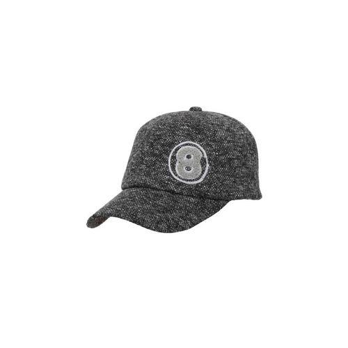 FabSeasons Unisex Grey & Black Self Design Baseball Cap