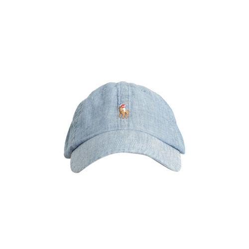 2b79f21c334 Buy Polo Ralph Lauren Men Blue Denim Cap with Embroidered Logo ...