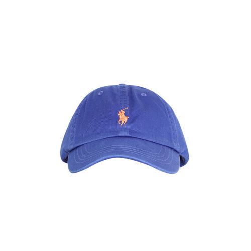5e65e63c6af Buy Polo Ralph Lauren Men Blue Solid Cap with Embroidered Logo ...