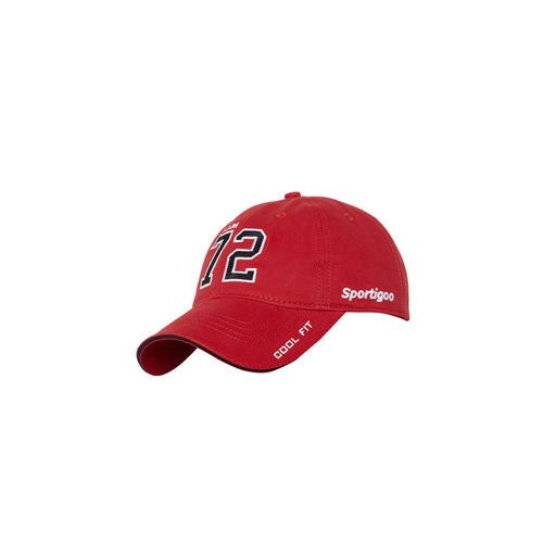 ... Baseball Cap  Sportigoo Men Red   Black Solid Baseball ... 02321976a70