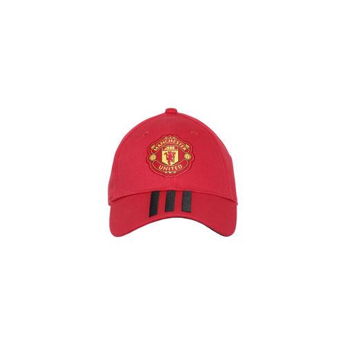 Buy Adidas Men Red Solid Manchester United 3S Visor Cap online ... c54d79cdf8d
