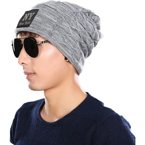 5614e799ac5 Buy Friendskart Solid NY Solid Black Winter Woolen Cap Cap Cap online