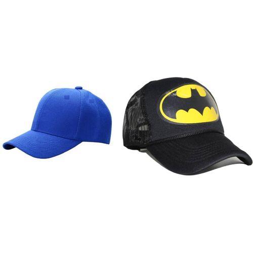 FashMade Printed Batman, HalfNet, Baseball, Trucker Cap(Pack of 2)