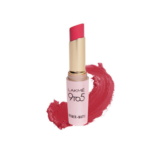 Lakme Eyeconic Deep Black Kajal & Primer+Matte Ruby Rush Lipstick