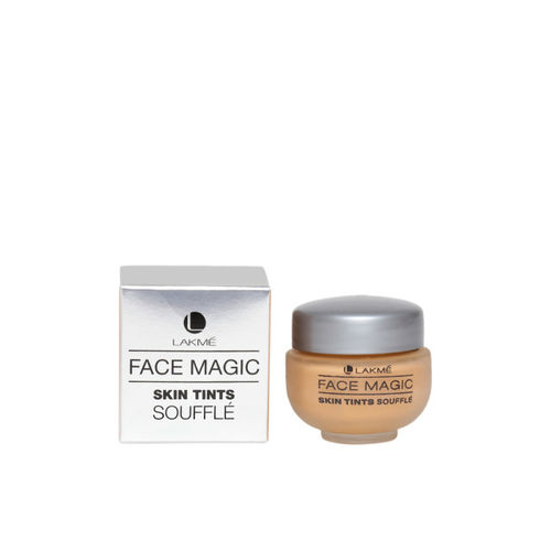 Lakme Magic Skin Tints Marble Souffle Foundation & Peach Magnet Enrich Lip Crayon Lipstick