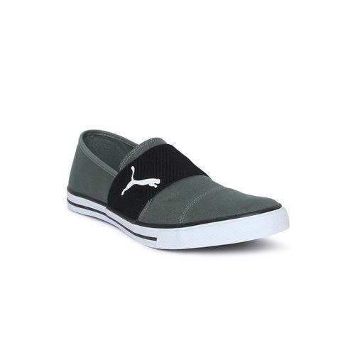efe8f1f35add5a Buy Puma Men Olive Green Alpha Slip on CV II IDP Slip-On Sneakers ...
