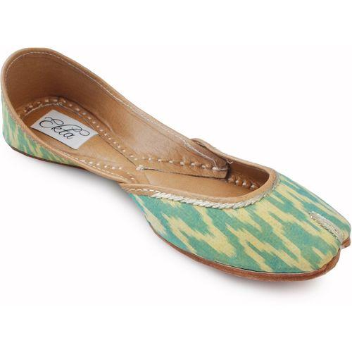Mojari For Girls Jutis For Women(Green