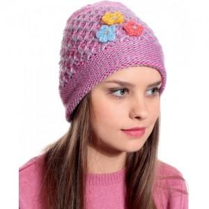 7ce2924da9f Buy FabSeasons Self Design Acrylic Woolen Winter skull cap with faux ...