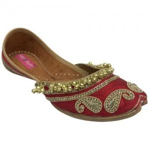 1628ed31b8e6 Step N Style Designer Shoes Indian Ethnic Wear Dance Balley Punjabi Jutti  Flat Khusa Jutis For