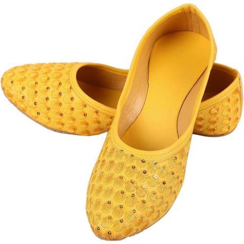 Rajwari Jutis For Women(Yellow)