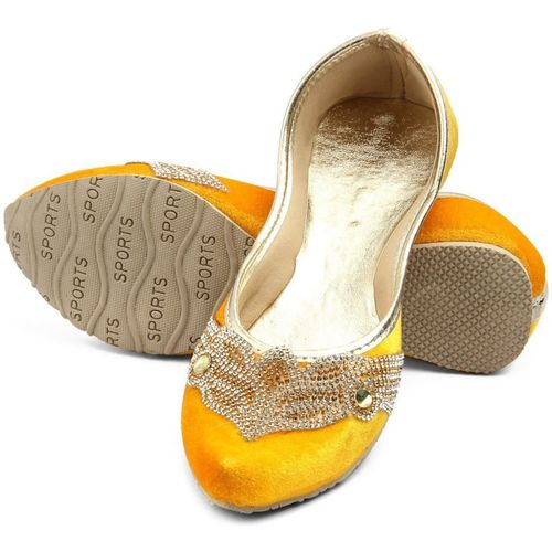 Tashi Stylish Yellow Party Wear For Women(Yellow)