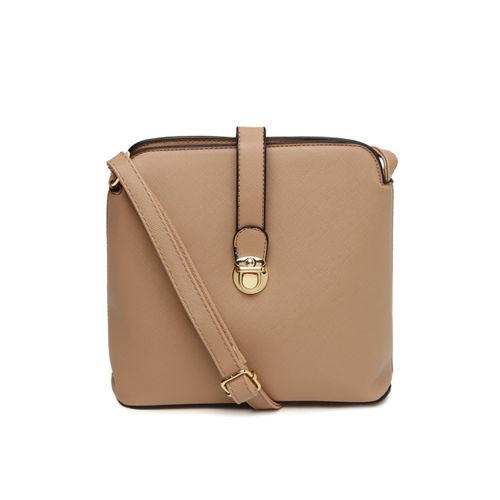DressBerry Beige Solid Sling Bag