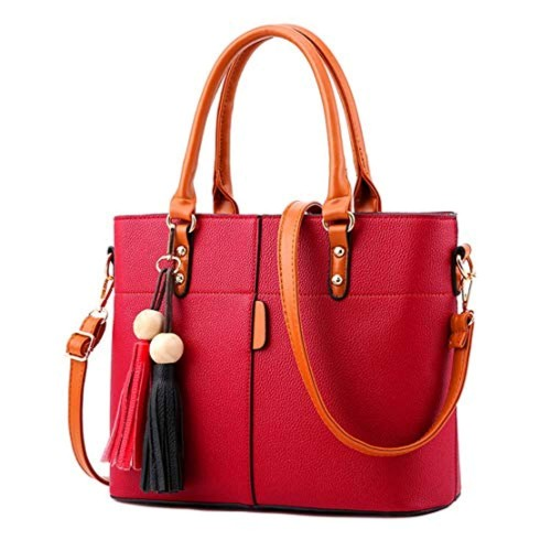 Shevanna Red PU Leather Handbags