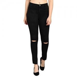 Kotty Black Cotton High Rise Jeans