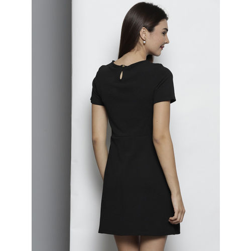 DOROTHY PERKINS Women Black Solid A-Line Dress