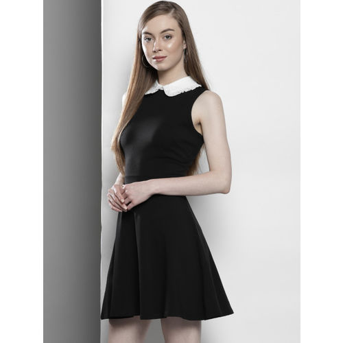 DOROTHY PERKINS Women Black Solid Fit and Flare Dress