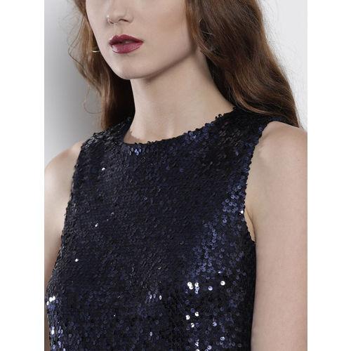 DOROTHY PERKINS Women Navy Blue Embellished Sheath Dress