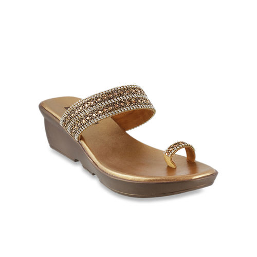 cf9ad010e77 Buy Mochi Antique Gold Toe Ring Wedges online