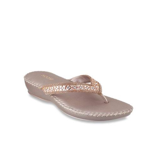 6429e3337 Buy Mochi Rose Gold Thong Sandals online