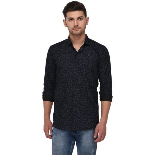 Studio Nexx Men Printed Casual Black Shirt