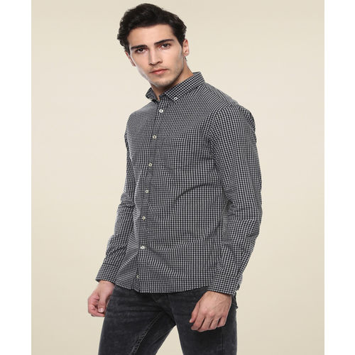 celio* Black Slim Fit Checks Shirt