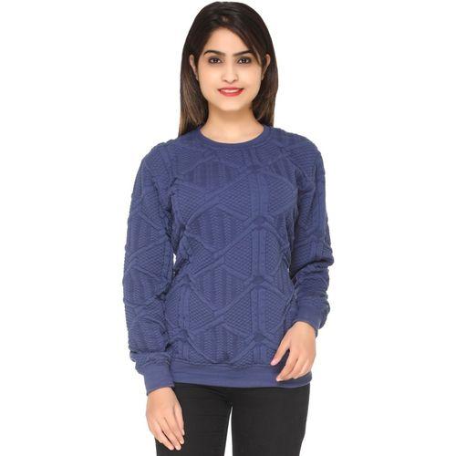 69GAL Full Sleeve Self Design Women Sweatshirt