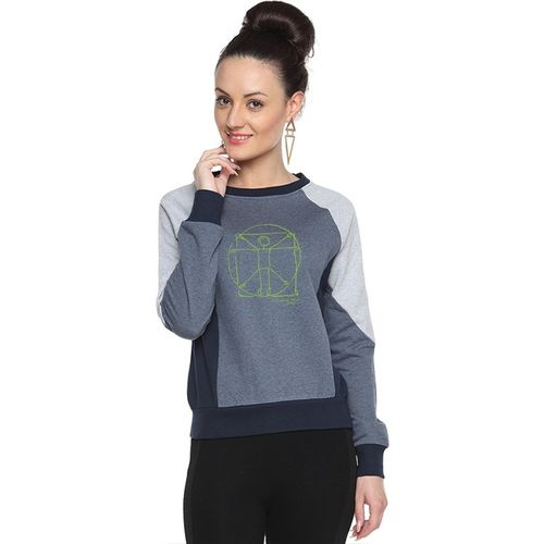 Campus Sutra Full Sleeve Printed Women Sweatshirt