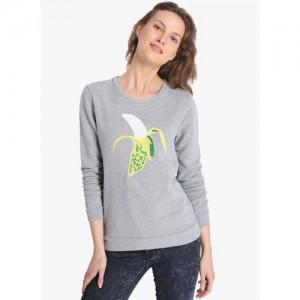 Vero Moda Full Sleeve Self Design Women's Sweatshirt